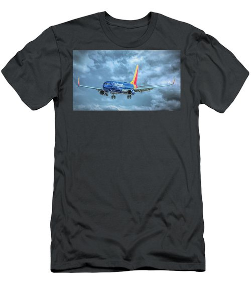 Men's T-Shirt (Athletic Fit) featuring the photograph 737 by Guy Whiteley