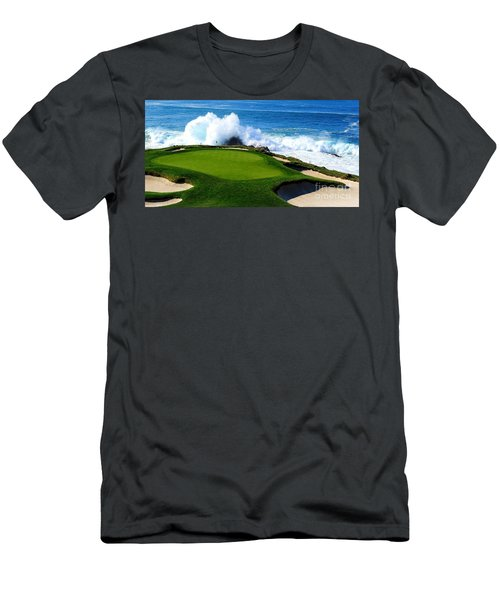 7th Hole - Pebble Beach  Men's T-Shirt (Athletic Fit)