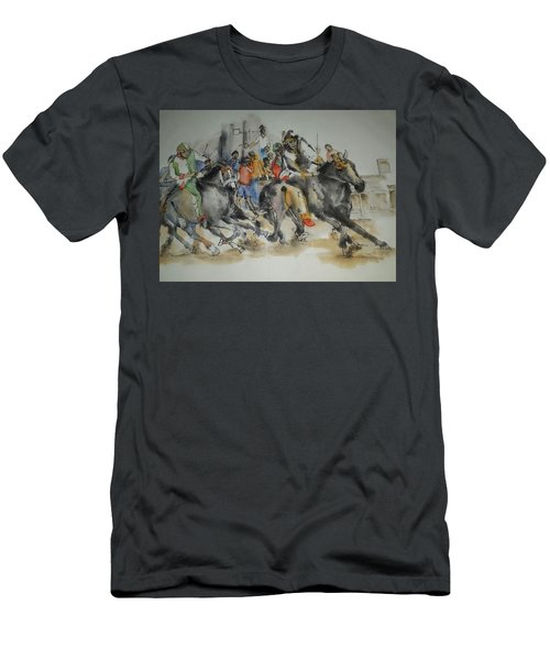 Siena And Their Palio Album Men's T-Shirt (Slim Fit) by Debbi Saccomanno Chan