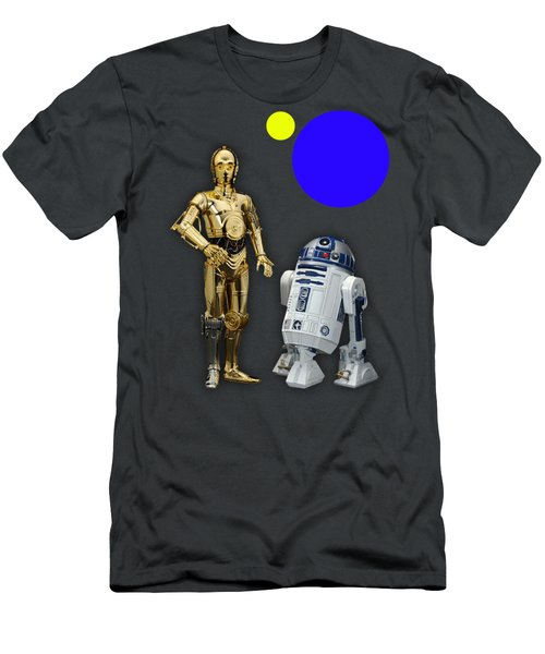 Star Wars C3po And R2d2 Collection Men's T-Shirt (Athletic Fit)
