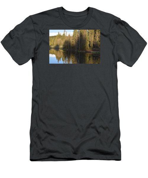 Men's T-Shirt (Athletic Fit) featuring the photograph Shadow Reflection Kiddie Pond Divide Co by Margarethe Binkley