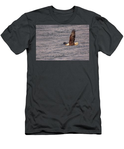 Men's T-Shirt (Athletic Fit) featuring the photograph Bald Eagle by Peter Lakomy