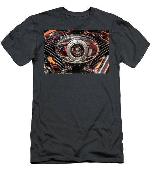 Men's T-Shirt (Slim Fit) featuring the photograph 96 Cubic Inches Softail by Randy Scherkenbach
