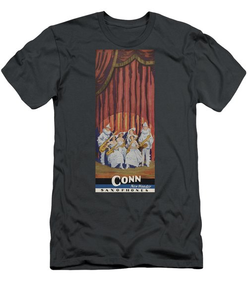 A Band On Stage Playing Charles Gerard Conn Saxophones Men's T-Shirt (Athletic Fit)
