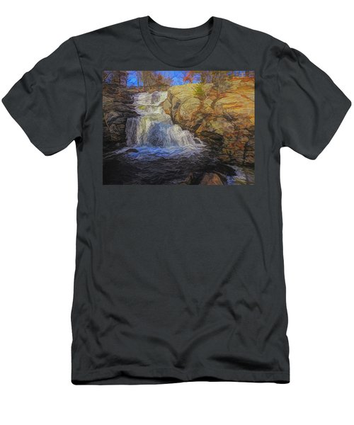 A Beautiful Connecticut Waterfall. Men's T-Shirt (Athletic Fit)