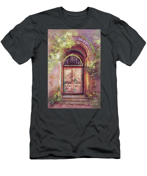 Men's T-Shirt (Slim Fit) featuring the digital art A Beautiful Mystery by Lois Bryan