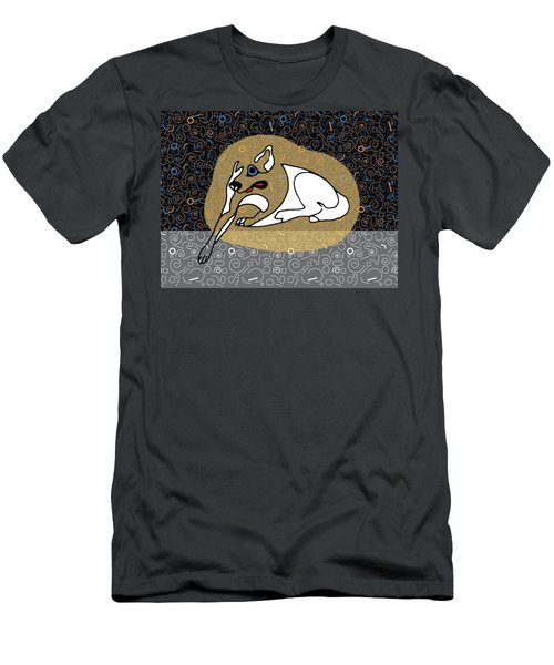 A Big White Dog In A Vegas Casino Men's T-Shirt (Slim Fit) by Stan  Magnan