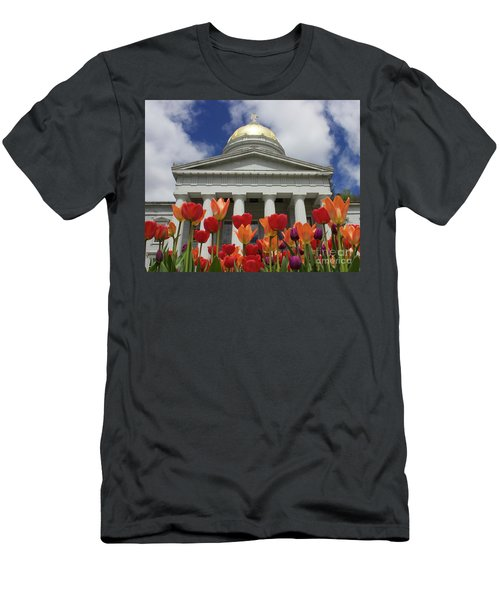 A Capitol Day Men's T-Shirt (Slim Fit) by Alice Mainville