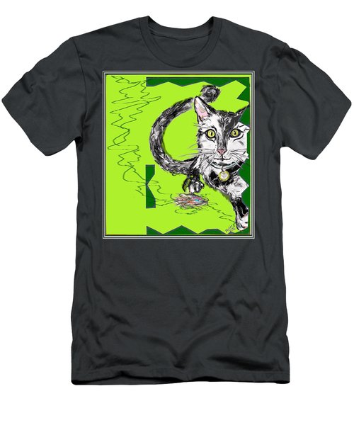 A Cat Men's T-Shirt (Slim Fit) by Desline Vitto