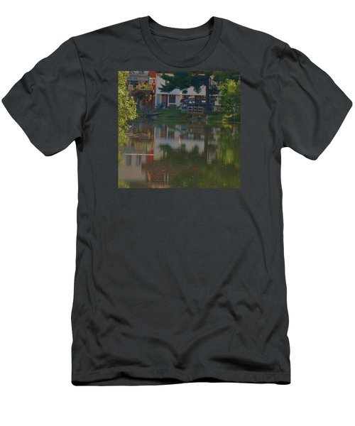 Men's T-Shirt (Slim Fit) featuring the photograph A Cities Reflection by Ramona Whiteaker