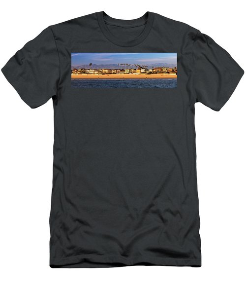 Men's T-Shirt (Slim Fit) featuring the photograph A Clear Day At The Beach by James Eddy
