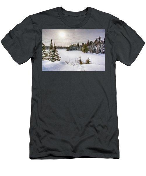 A Cold Algonquin Winters Days  Men's T-Shirt (Athletic Fit)