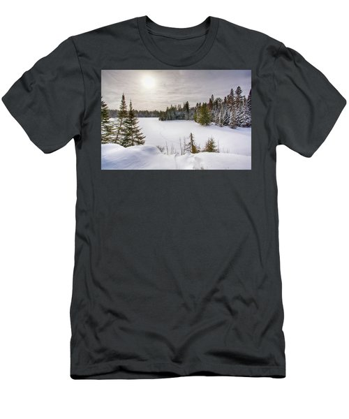A Cold Algonquin Winters Days  Men's T-Shirt (Athletic Fit)