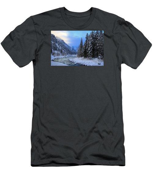 A Cold Winter Day Version 2 Men's T-Shirt (Slim Fit) by Lynn Hopwood