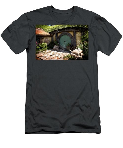 A Colorful Hobbit Home Men's T-Shirt (Athletic Fit)
