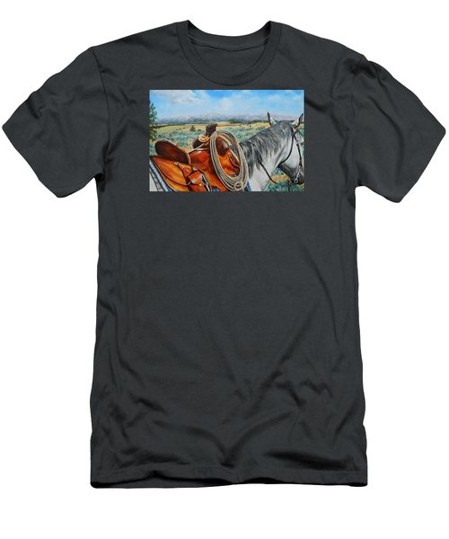 A Cowboy's View Men's T-Shirt (Athletic Fit)