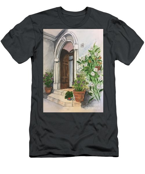 A Door In Castellucco, Italy Men's T-Shirt (Athletic Fit)