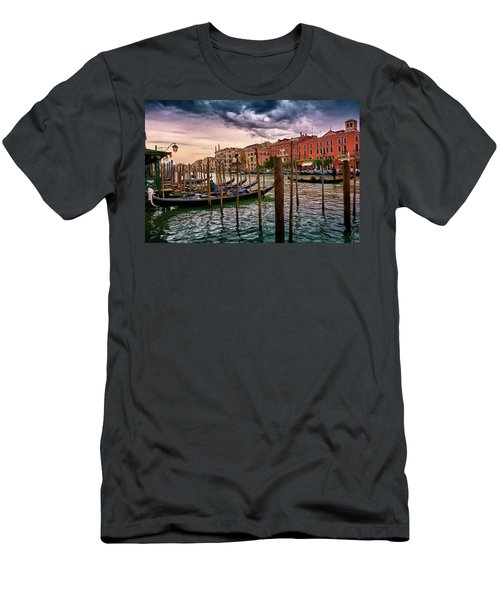 Surreal Seascape On The Grand Canal In Venice, Italy Men's T-Shirt (Athletic Fit)