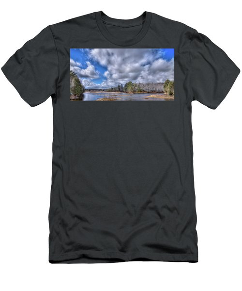 Men's T-Shirt (Slim Fit) featuring the photograph A Dusting Of Snow by David Patterson