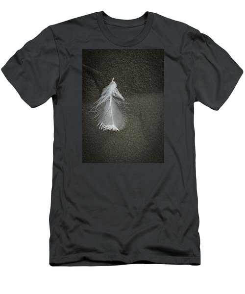 A Feather At The Edge Of The Water Men's T-Shirt (Athletic Fit)