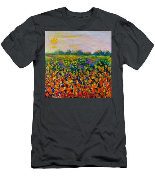 A Field Of Flowers #1 Men's T-Shirt (Slim Fit) by Maxim Komissarchik