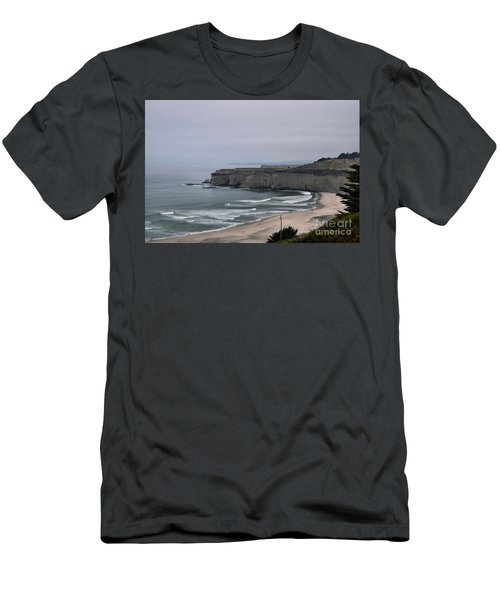 A Foggy Day On Hwy 1 Men's T-Shirt (Athletic Fit)