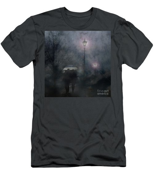 Men's T-Shirt (Athletic Fit) featuring the photograph A Foggy Night Romance by LemonArt Photography