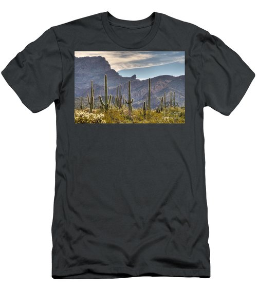 A Forest Of Saguaro Cacti Men's T-Shirt (Athletic Fit)