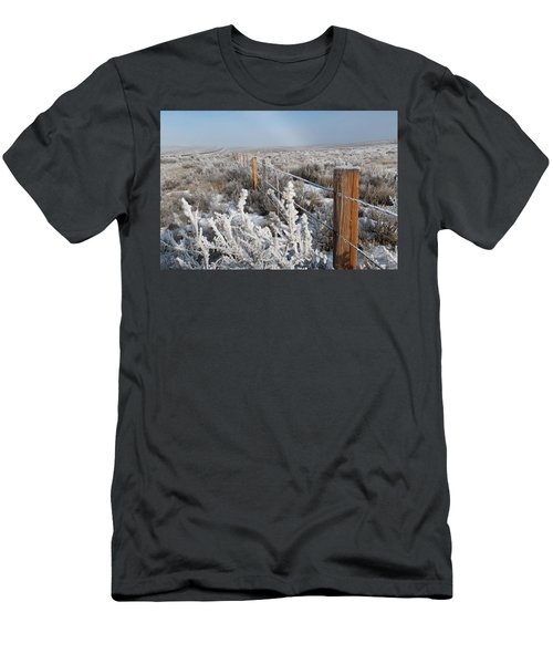 A Frosty And Foggy Morning On The Way To Steamboat Springs Men's T-Shirt (Athletic Fit)