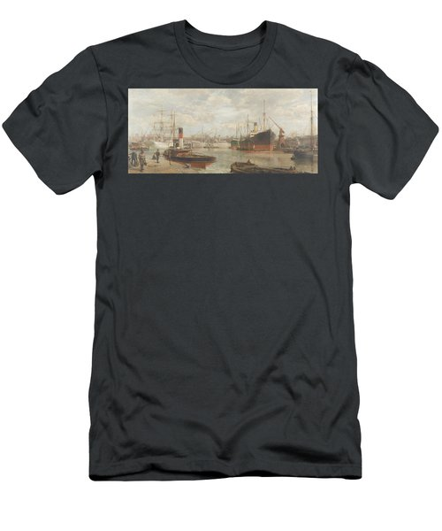 A Glimpse In 1920 Of The Royal Edward Dock, Avonmouth Men's T-Shirt (Athletic Fit)