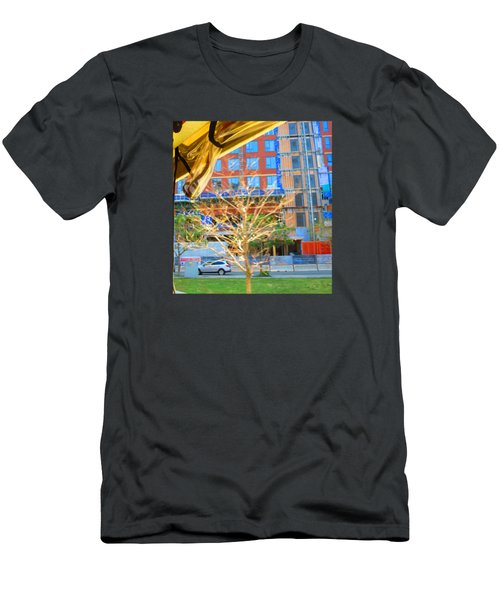 A Golden Tree View From Duck Tour Bus Window Men's T-Shirt (Athletic Fit)