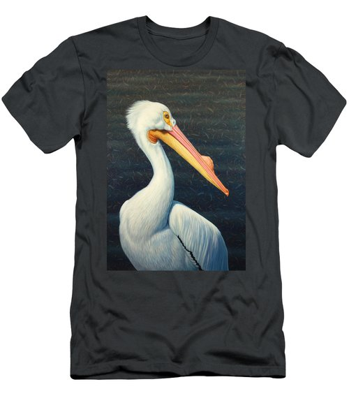 A Great White American Pelican Men's T-Shirt (Athletic Fit)