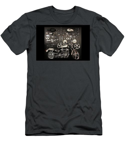 A Harley-davidson Motorcycle And Parts  Men's T-Shirt (Athletic Fit)