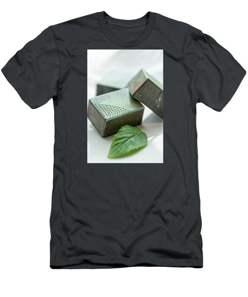 A Hint Of Mint Men's T-Shirt (Slim Fit) by Sabine Edrissi
