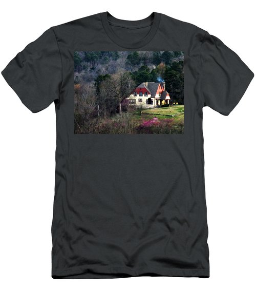 Men's T-Shirt (Athletic Fit) featuring the photograph A Home In The Country by W And F Kreations