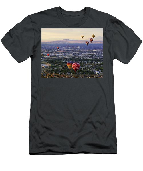A Hot Air Ride To Albuquerque Cropped Men's T-Shirt (Slim Fit) by Daniel Woodrum