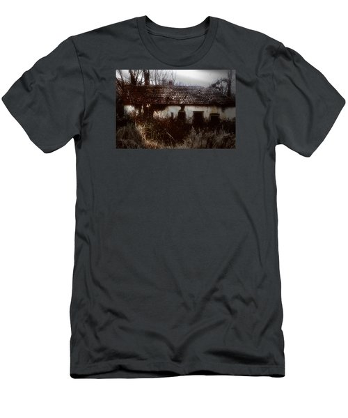 Men's T-Shirt (Slim Fit) featuring the photograph A House In The Woods by Mimulux patricia no No
