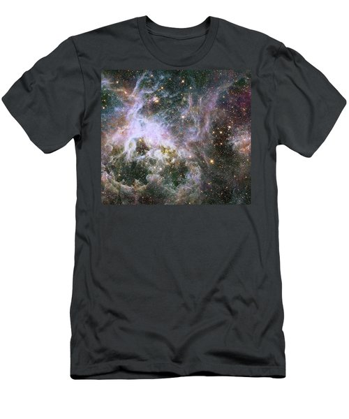 Men's T-Shirt (Slim Fit) featuring the photograph A Hubble Infrared View Of The Tarantula Nebula by Nasa