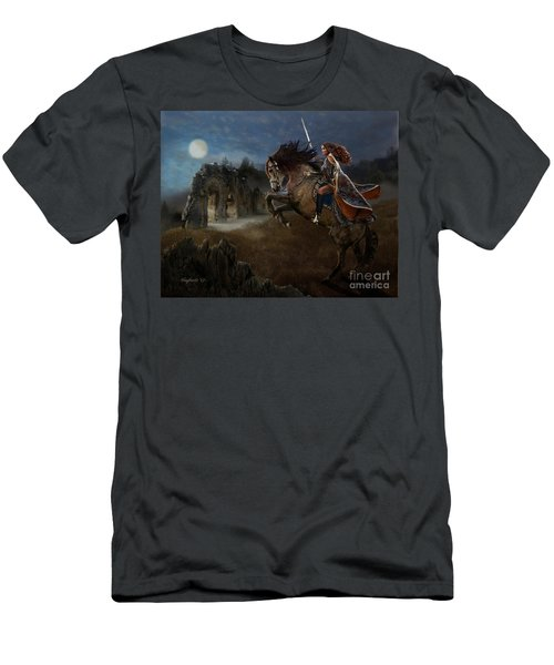 Men's T-Shirt (Athletic Fit) featuring the digital art A Knight's Lady by Melinda Hughes-Berland