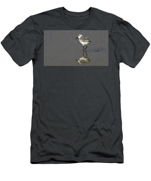 A Little Bird On A Beach Men's T-Shirt (Athletic Fit)
