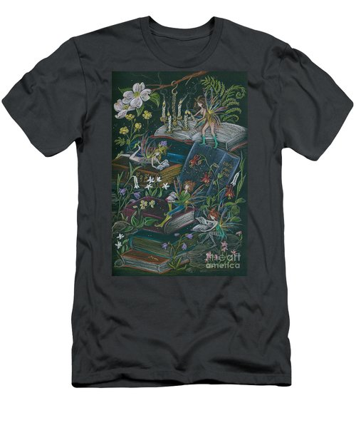 A Little Light To Read By Men's T-Shirt (Slim Fit) by Dawn Fairies