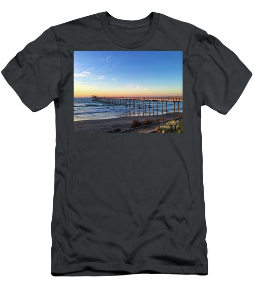 A Long Look At Scripps Pier At Sunset Men's T-Shirt (Athletic Fit)