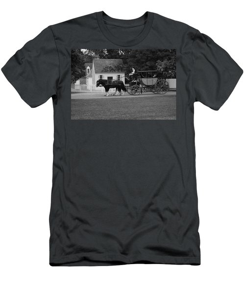 Men's T-Shirt (Slim Fit) featuring the photograph A Look Back by Eric Liller
