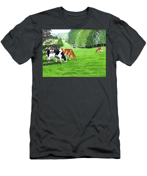 A Lush Summer Pasture Men's T-Shirt (Athletic Fit)