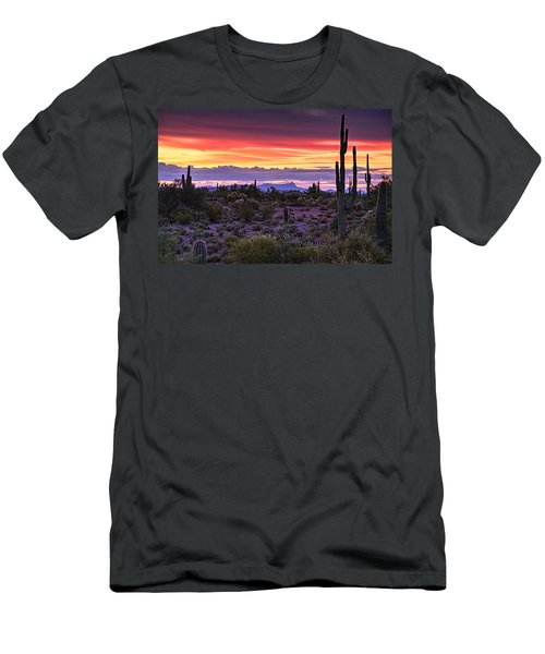 A Magical Desert Morning  Men's T-Shirt (Athletic Fit)