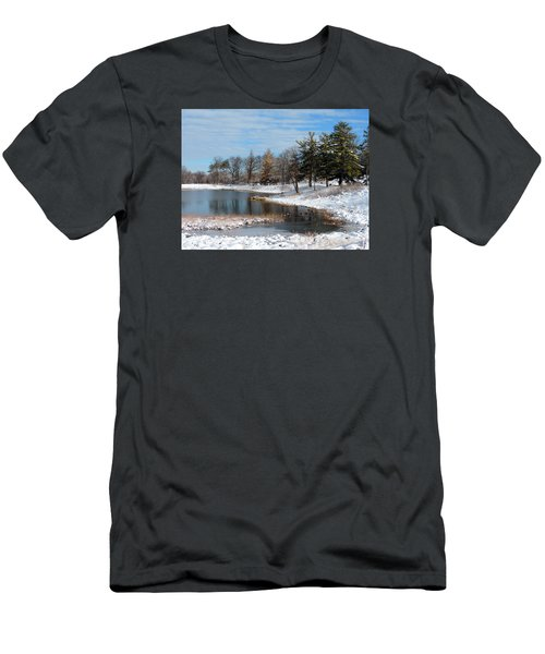 Men's T-Shirt (Slim Fit) featuring the photograph A Mild Winter Morning by Teresa Schomig