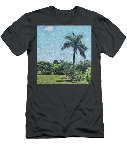 A Monet Palm Men's T-Shirt (Athletic Fit)