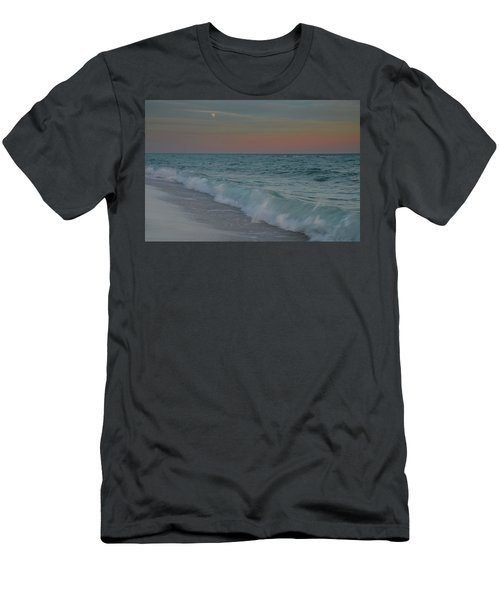 Men's T-Shirt (Slim Fit) featuring the photograph A Moonlit Evening On The Beach by Renee Hardison