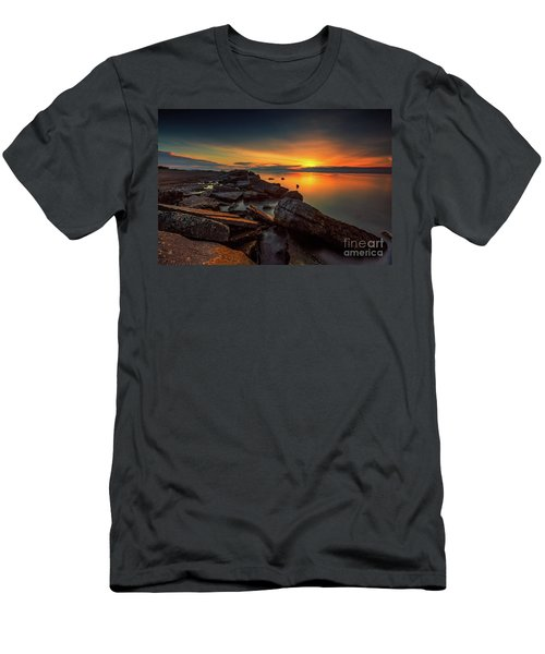 A Morning On The Rocks Men's T-Shirt (Athletic Fit)