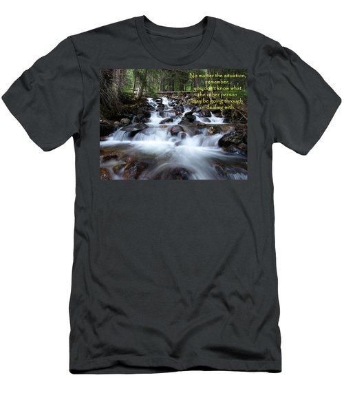 A Mountain Stream Situation Men's T-Shirt (Slim Fit) by DeeLon Merritt